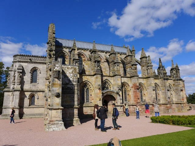 Explore the mysterious and unique carvings and stories of the Da Vinci code at beautiful Rosslyn Chapel image