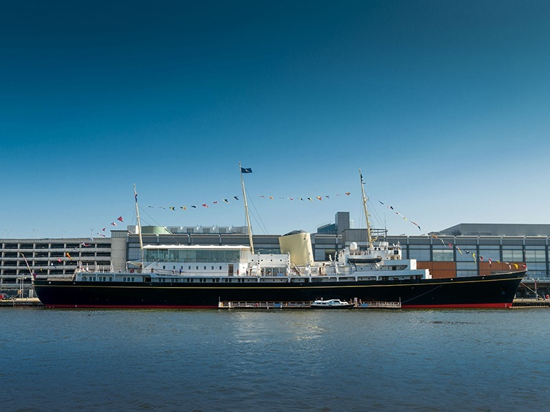 Explore the Port of Leith and step on-board the Royal Yacht Britannia to experience the monarch's 'home on the sea' image