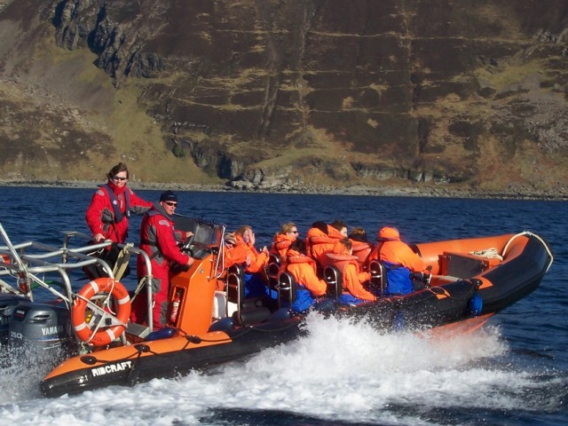 Take an exhilirating boat trip out to explore the Small Isles and view thousands of Atlantic puffins (basking sharks, dolphins and minke whales also spotted) image