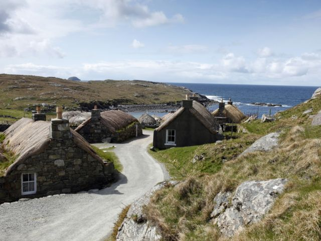 Experience the history and heritage of crofting life at an authentic preserved island village image
