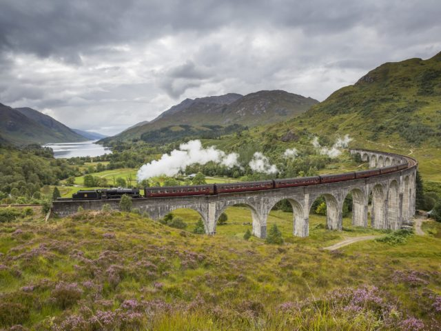 Catch a glimpse of the Jacobite steam train crossing the Glenfinnan Viaduct at Loch Shiel image