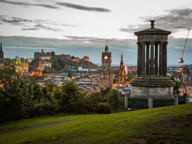 The Old Town of Edinburgh from Calton Hill image
